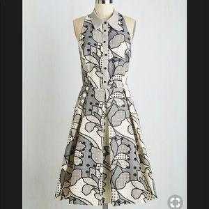 Eva Franco Sleeveless Grey Dress
